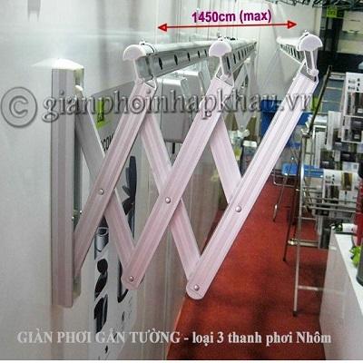 Giàn phơi gắn tường Hàn Quốc Model WDR-3AB