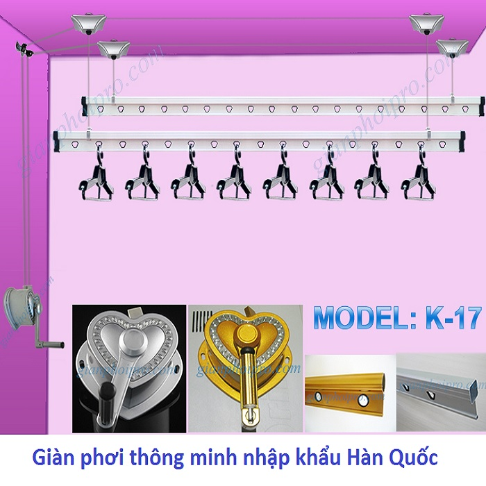 Giàn phơi Korea Model K-17