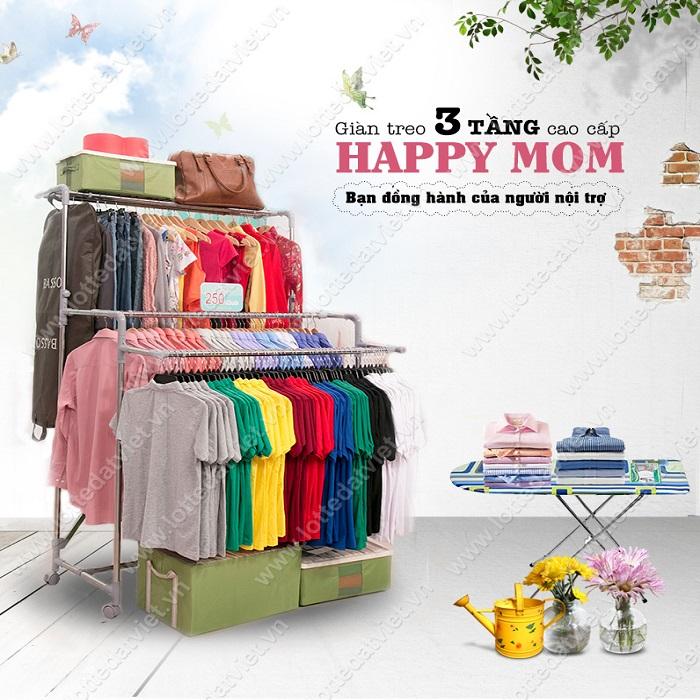 Giàn phơi thông minh Happy mom