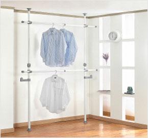 Giá treo quần áo cố định 2 tầng (LS-0568) và Giá treo quần áo 2 tầng bằng gỗ (LS-0704)