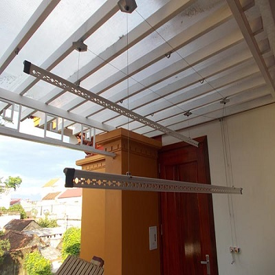Lắp đặt giàn phơi Thái Lan cho trần mái tôn nhà chị Xuân, Đông Ngạc, Từ Liêm
