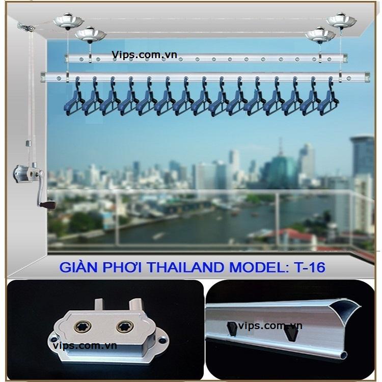 Lắp đặt giàn phơi Thái Lan T-16 cho trần mái tôn nhà ông Thái, Xuân Đỉnh, Bắc Từ Liêm