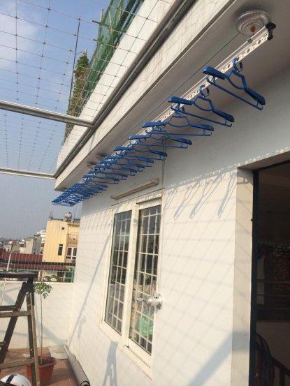 Lắp giàn phơi đồ thông minh nhà chị Minh Anh số 168 đường Phan Đăng Lưu quận Bình Thạnh