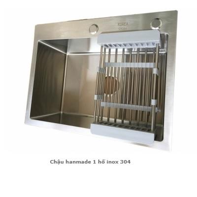 CHẬU HANDMADE 1 HỐ INOX 304 (MODEL: KB 4560 304)