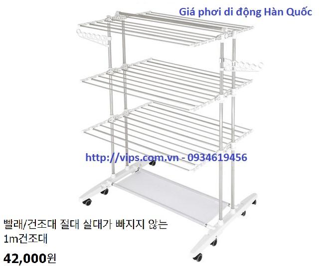 giá phơi di động Hàn Quốc KV3
