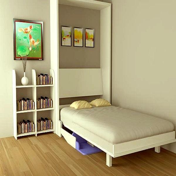 Giường gấp kết hợp bàn học
