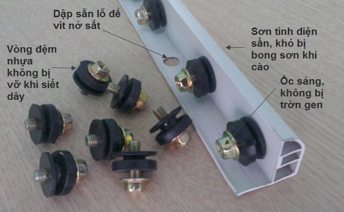 cấu tạo thanh nhôm lưới an toàn ban công