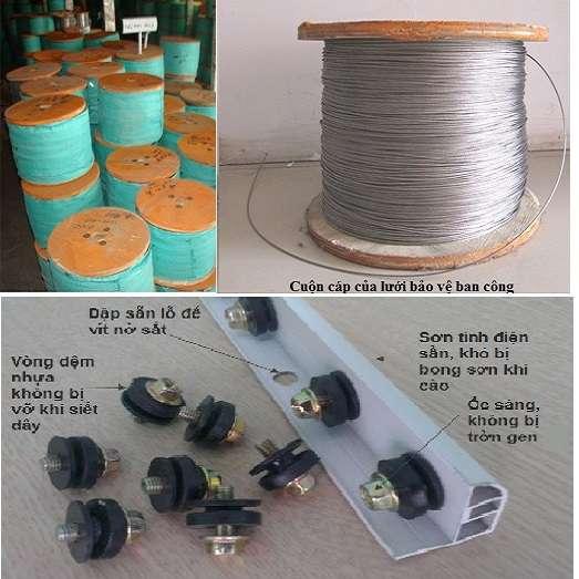 vật tư lưới an toàn ban công