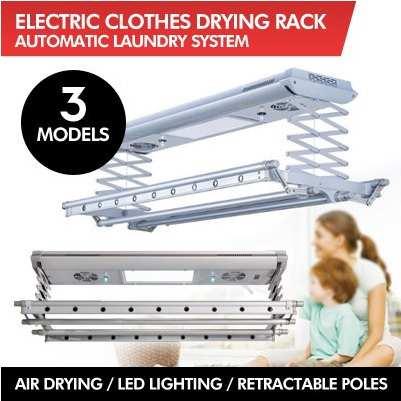 Giá phơi quần áo điện tử / Điều khiển từ xa / Tự động nâng / LED / 3 MÔ HÌNH