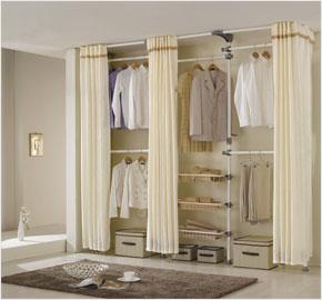 Giá treo cất trữ áo quần năm cấp độ (màu trắng) (LS-2753) và (LS-3361)