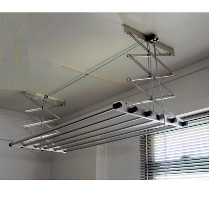 Giàn phơi điều khiển bằng dây kéo 6 thanh phơi