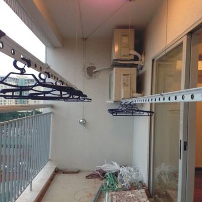 Lắp giàn phơi nhập khẩu tại sân thượng mái tôn nhà anh Nam ngõ 165 Cầu Giấy