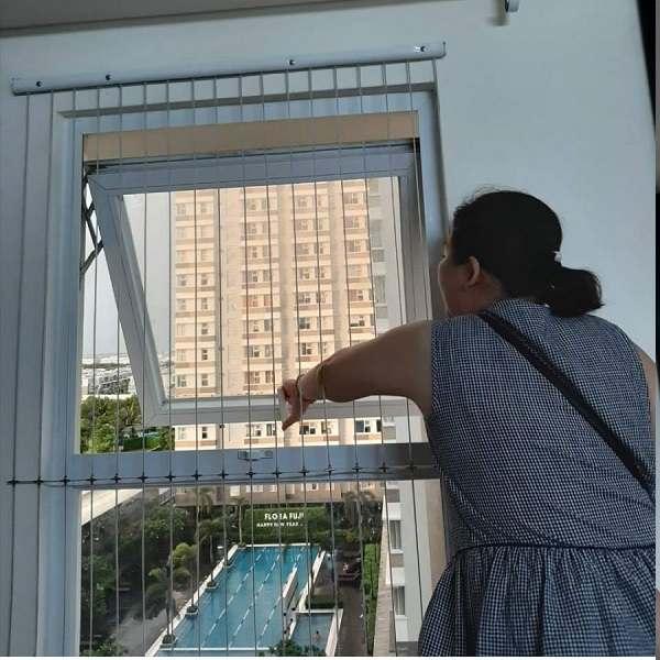 Lắp lưới an toàn cửa sổ trường mầm non ở Huyện Thường Tín