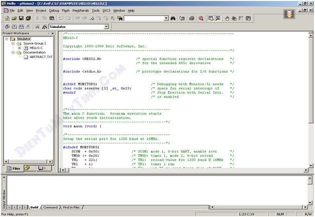 Trình biên dịch cho vi điều khiển KEILC 4, FLASH LOADER
